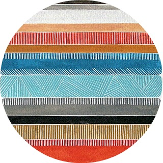 AbstractStripes-Kingfisher-Circle-320